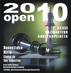 Cartel 33 Open de San Sebastin