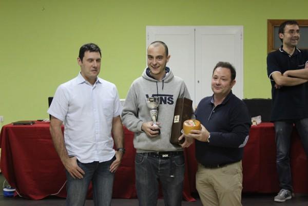 Erik Juez, campeón de Gipuzkoa. Foto Billabona Xake Elkartea